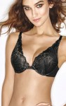 Biustonosz Wonderbra Triangle Push-Up Refined Glamour czarny