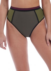 Majtki kąpielowe Freya Club Envy High Waist  brief  KHAKI