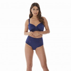Majtki Fantasie Illusion High Waist Brief granatowe